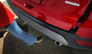 The 2013 Ford Escape's optional hands-free power liftgate is motion-activated.