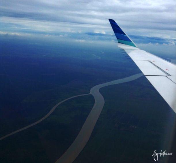 Sungai Musi dari Udara