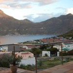 View from my guest house in Hout Bay.