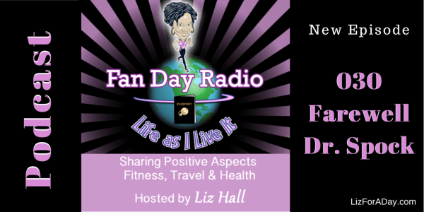 Fan Day Radio Podcast 030 Farewell Dr. Spock - Shared by LizForADay.com
