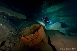 Underwater junk in sinkholes