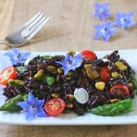 Black Rice Salad with Meyer Lemon Vinaigrette for #TheSaladBar
