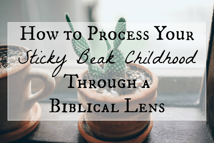 Biblically processing your sticky beak childhood fb