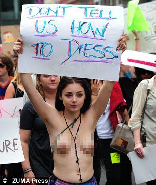women in dress in public