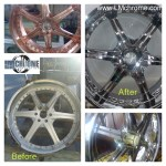 Wheels - Chrome Plating - Before and After - Auto