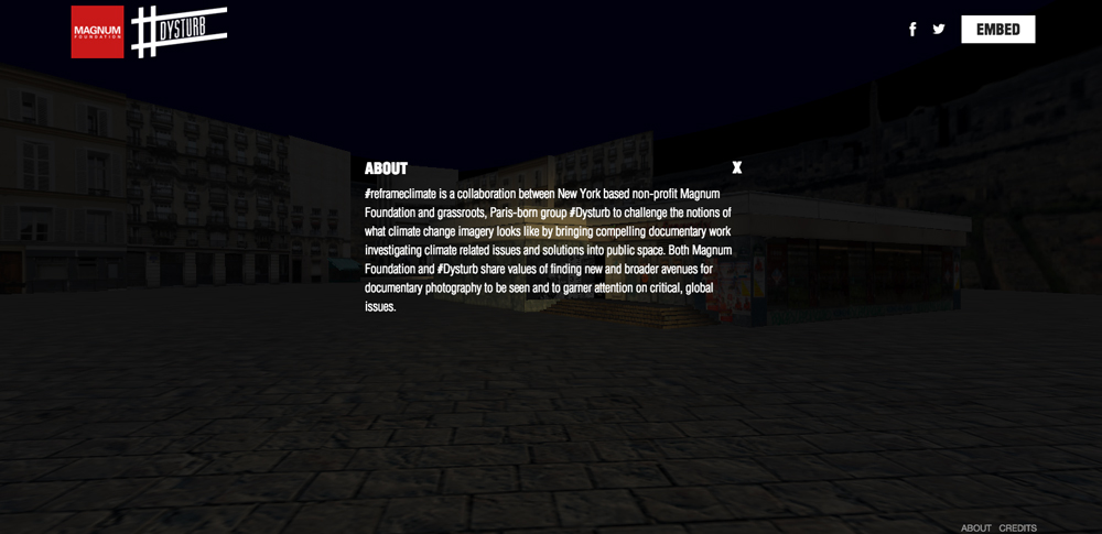 Text overlay on 3D website.