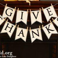Give Thanks Banner DIY