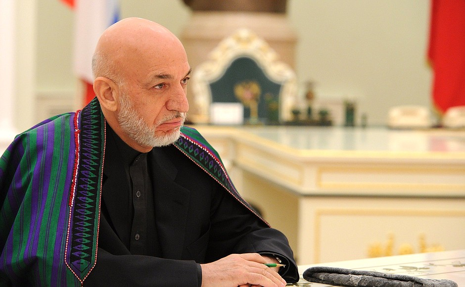 Hamid Karzai in Moscow