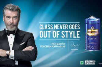 Pan Bahar ad featuring Pierce Brosnan