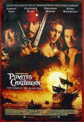 Poster do filme Piratas do Caribe: A Maldição do Pérola Negra