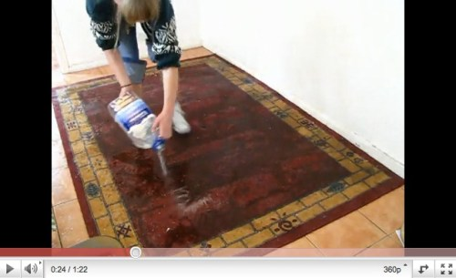 Experiment with wet rug and conductive gloves (link to youtube)