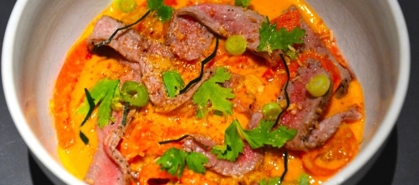 Boeuf au curry rouge