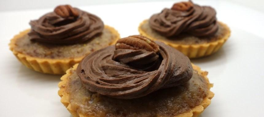 Tartelettes sablées aux noix de pécan et chocolat