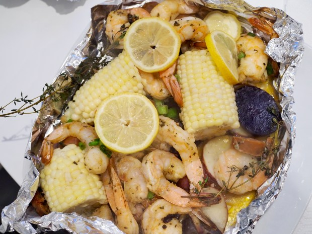 Oven and Foil Shrimp Boil