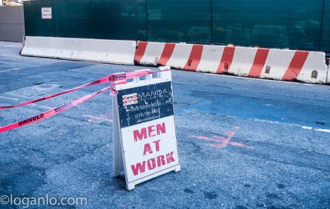 Men at Work Sign