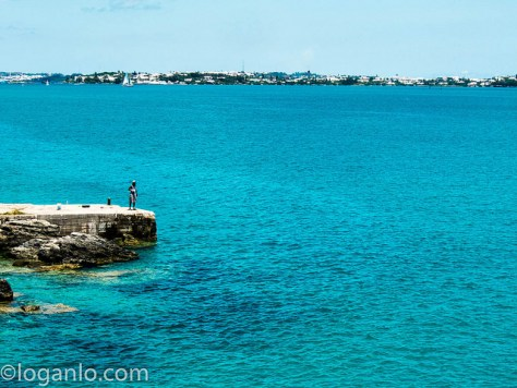 Old man fishing in Bermuda