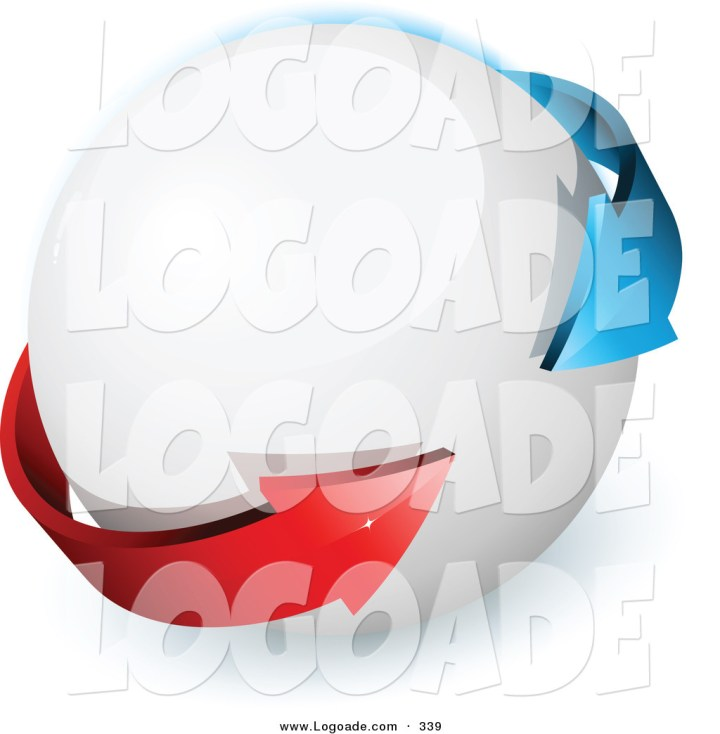 Clothing And Apparel Logos Red Arrow Logo of a Premade Logo of Blue And Red Arrows Surrounding a White Orb With