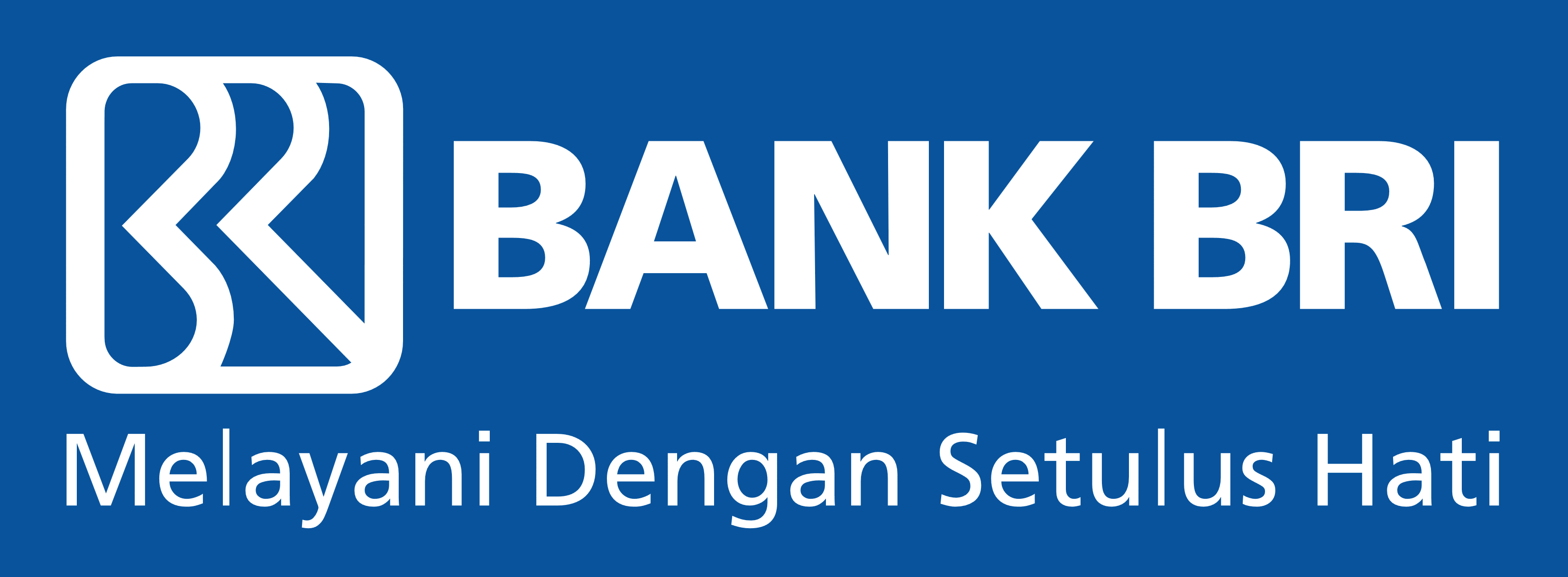bank bri logo blue background