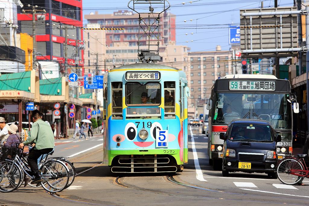 如何搭乘路面電車遊函館
