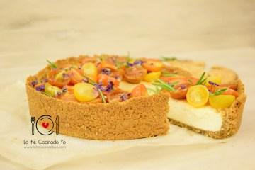 Cheesecake Salado con tortas de aceite de Inés Rosales