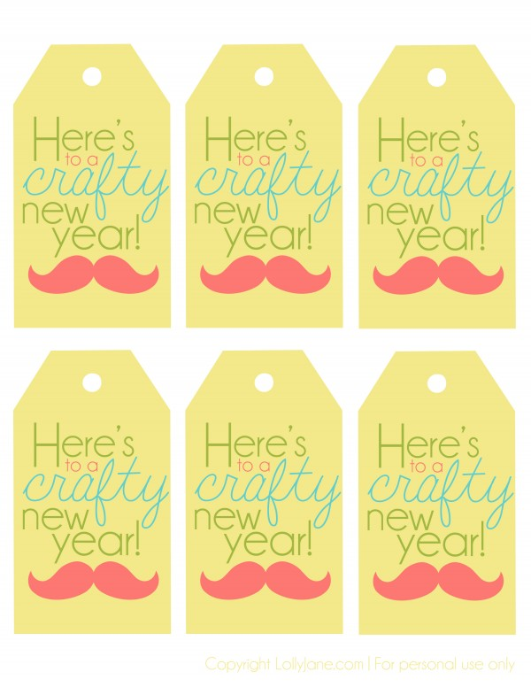 New Years tags | Lolly Jane