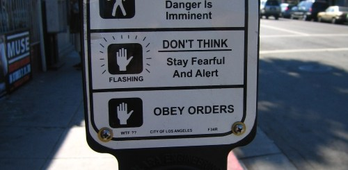 Street Crossing Panic Signs
