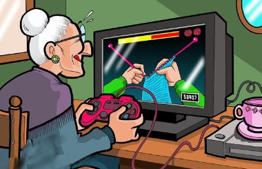 Knitting Video Game for Grandma
