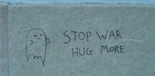 Stop War. Hug More.