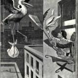 vintage birth control - stork