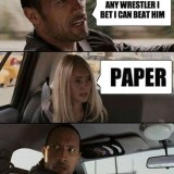 The Rock vs Paper