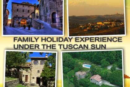 Tuscany FAMILY HOLIDAY EXPERIENCE UNDER THE TUSCAN SUN collage