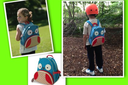 Owl backpack back to school collage