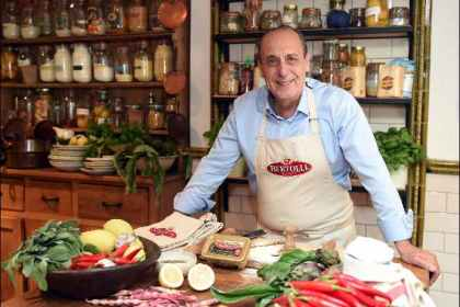 Exclusive interview with Celebrity Chef Gennaro Contaldo including his top pasta tips Gennaro headshot with product