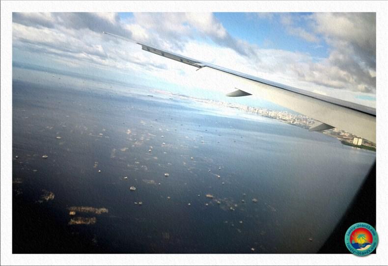 Anflug über Manila