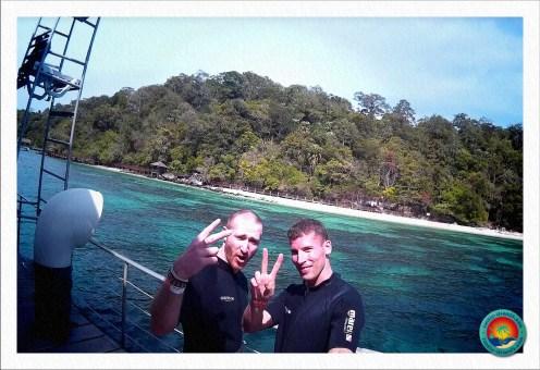Selfie vom Tauchboot im Marine Nationalpark