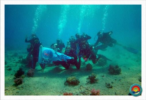 Clean-Up Day - Gruppenfoto mit den Euro-Divers