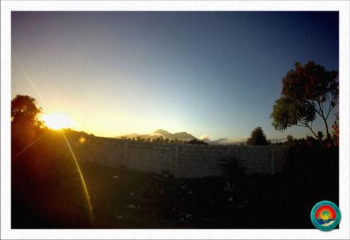 Sonnenuntergang auf dem Weg nach Dauin
