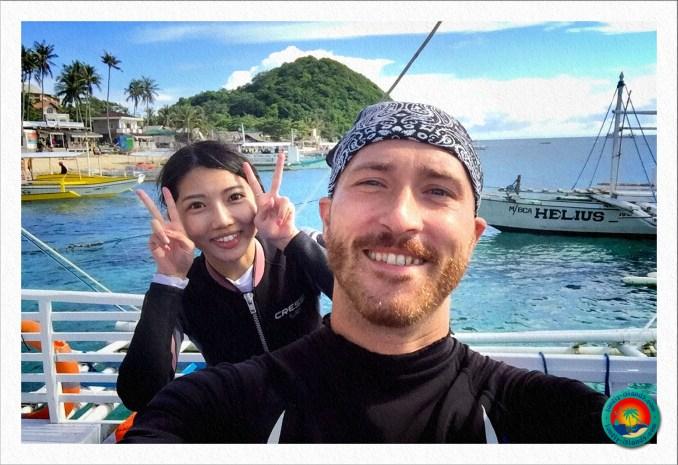 Selfie mit einer chinesischen Taucherin