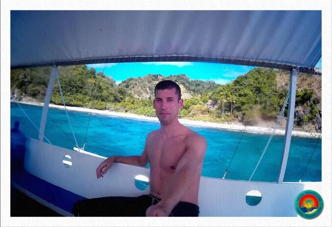 Selfie vor der Ostküste von Apo Island