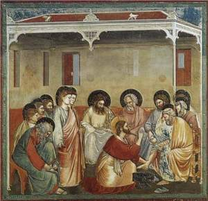 Giotto, Christ Washing the Disciples' Feet