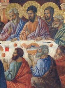 Duccio, Appearance of Christ to the Apostles (1311)