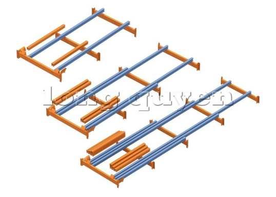 Giá Kệ Để Pallet Sàn Đẩy (Push Back Rack) (7)