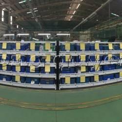 Giá kệ lưu trữ dòng chảy trong lắp ráp công nghiệp tại công ty SHVN