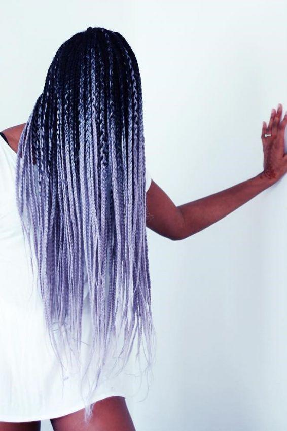 пепельно-белый оттенок волос
