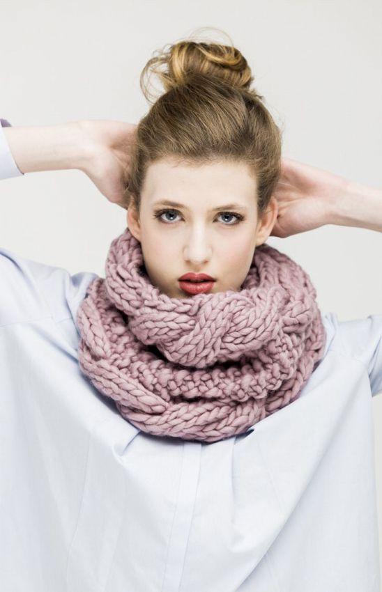 стильный шарф снуд