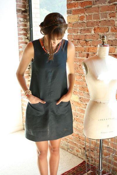 черное летнее платье футляр