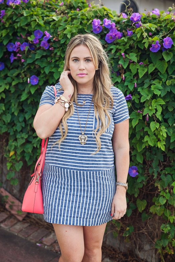 ootd, ruby claire boutique, wearrubyclaire, online boutique, trendy online women's boutique, dress, striped dress, memorial day dress,