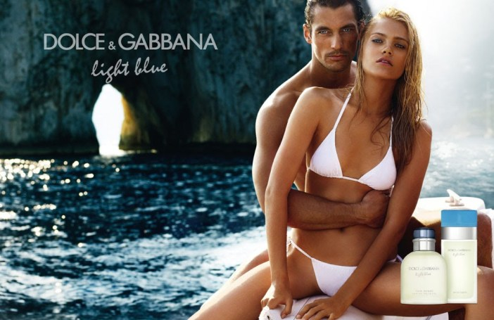 David Gandy & Anna  Maria Jagodzinska by Mario Testino (Dolce & Gabbana Light Blue Fragrance)
