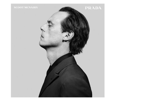 Scoot McNairy in a Prada Menswear ad shot by Craig McDean.