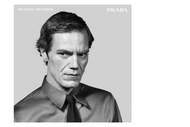 Michael Shannon in a Prada Menswear ad shot by Craig McDean.